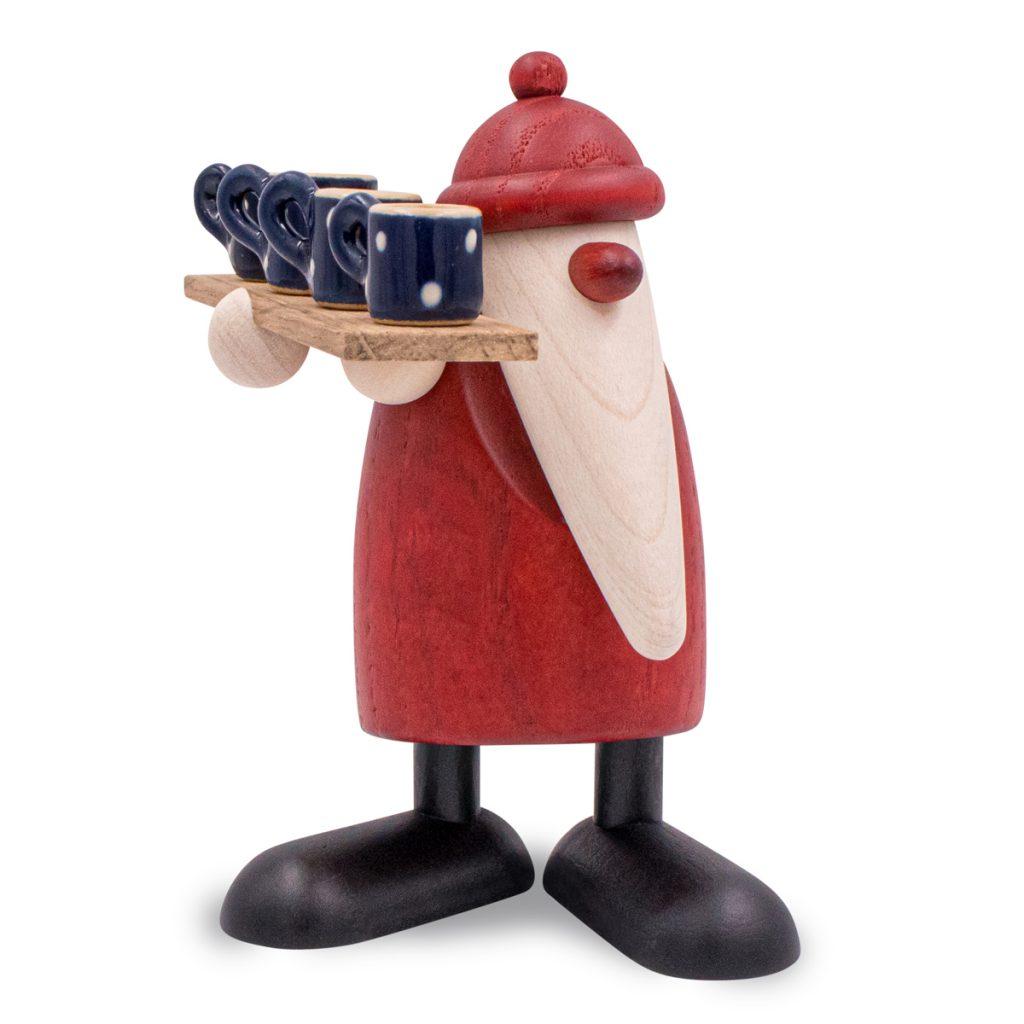 Köhler Weihnachtsmann mit Töpferbrett und Bürgeler Keramik